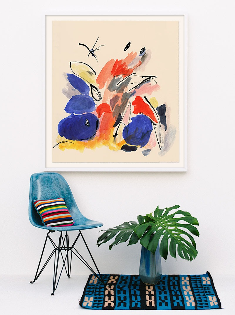 mid-century modern abstract print