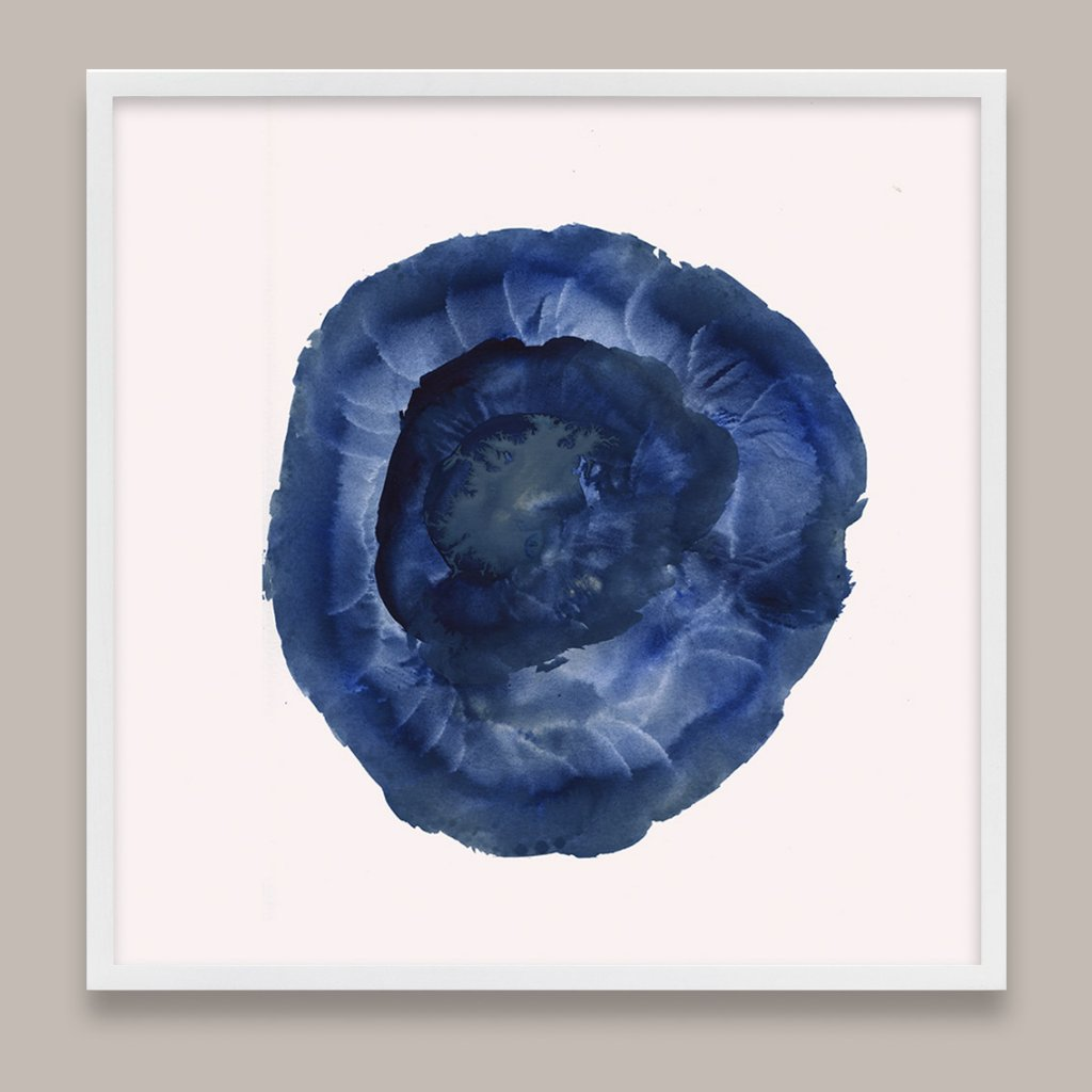 Blue Biomorphic Abstract Art