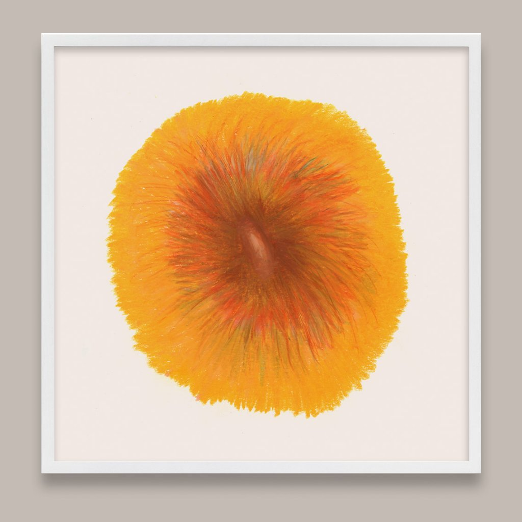 Orange Abstract Art