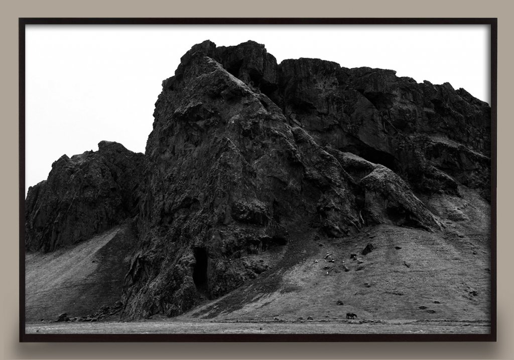 black and white Iceland photograph
