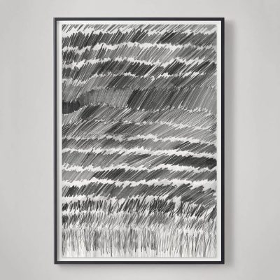 restoration hardware catalog pencil drawing abstract
