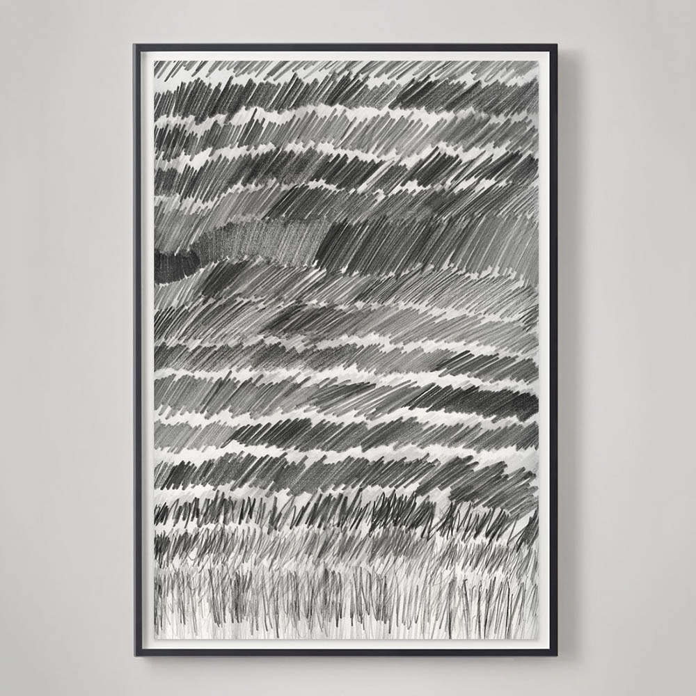 restoration hardware catalog pencil drawing abstract