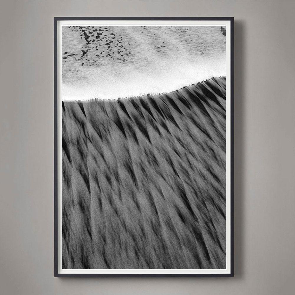 black and white coast photograph