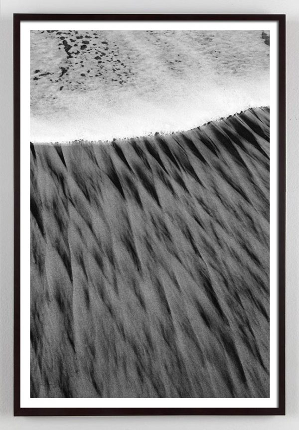 black and white sand photograph
