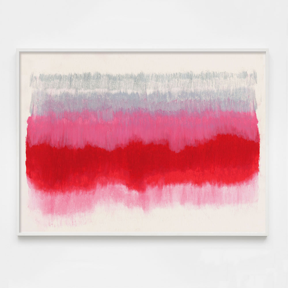 colorful red abstract art print