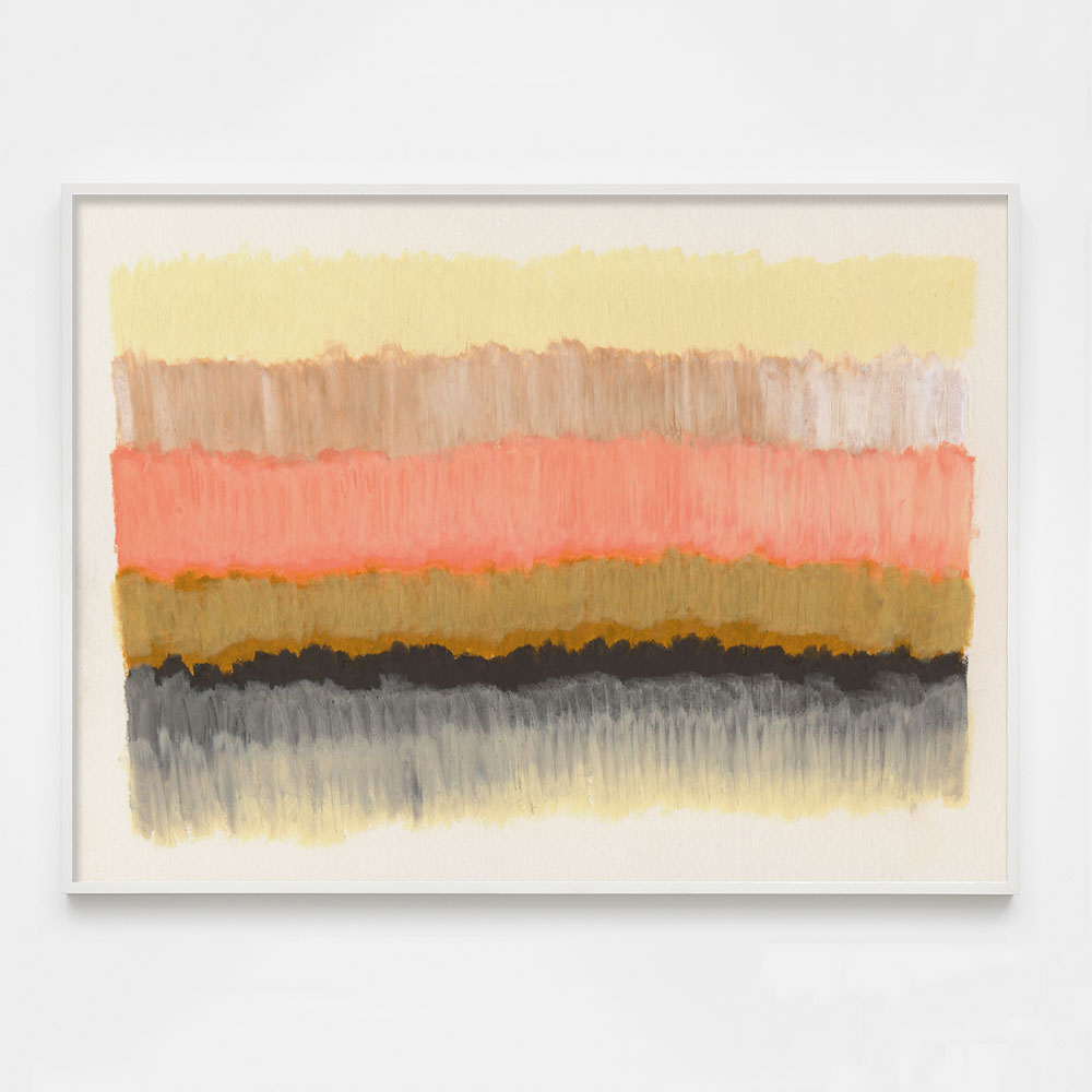 colorful peach abstract art print