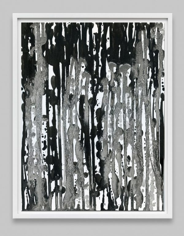 black and white abstract painting print