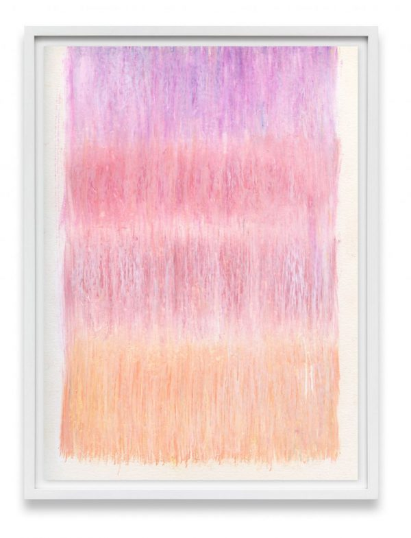 pink and peach abstract art