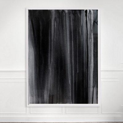 moody black and white art print