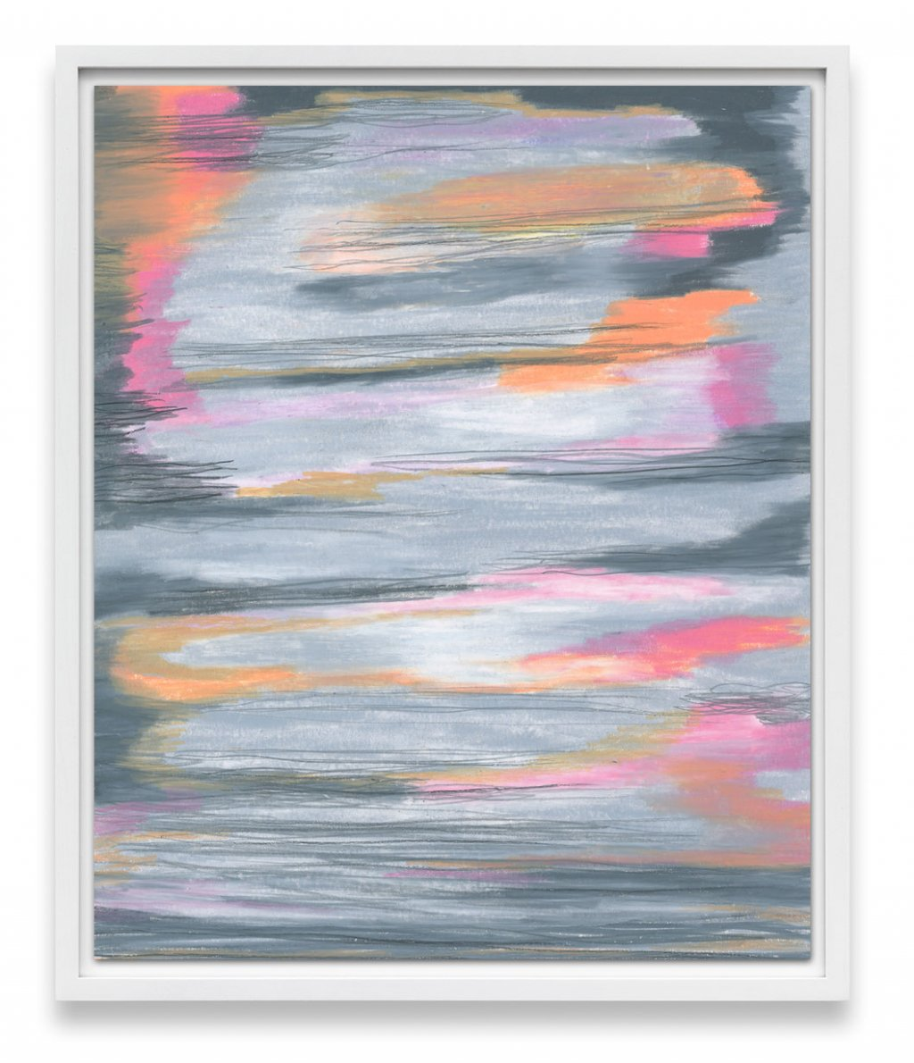 sherbet colored abstract art