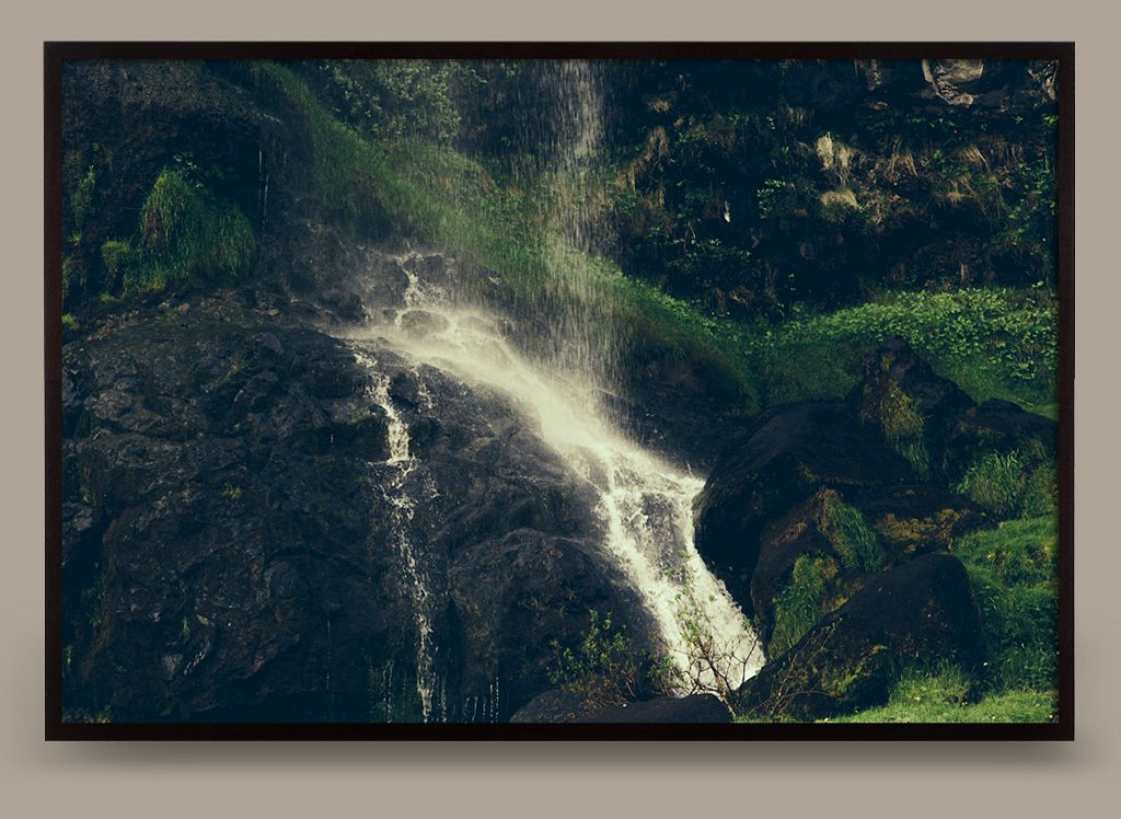 Color Photograph of Waterfall