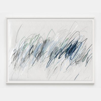 gray and blue abstract painting drawing