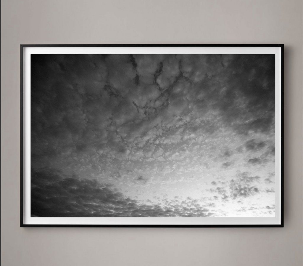 black and white cloud photograph