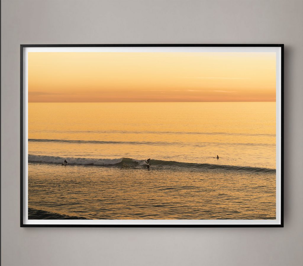 yellow surf coastal photograph