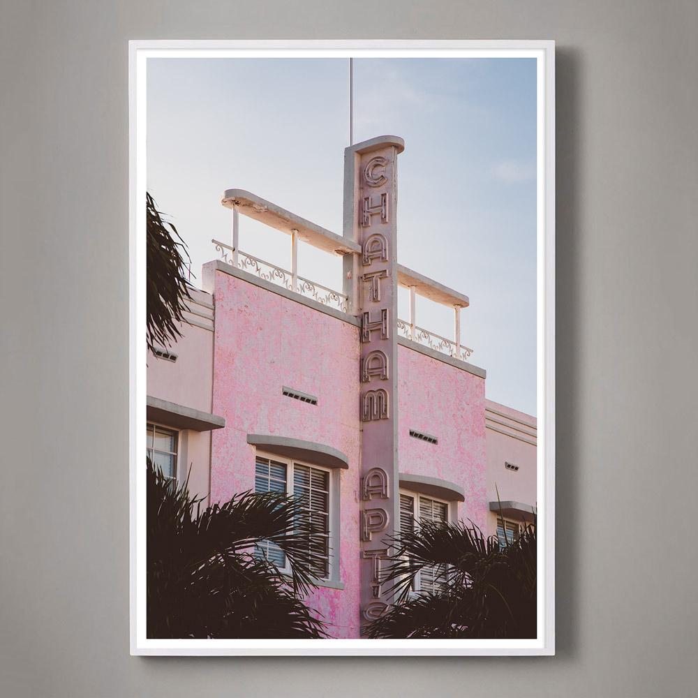 pink photograph miami beach