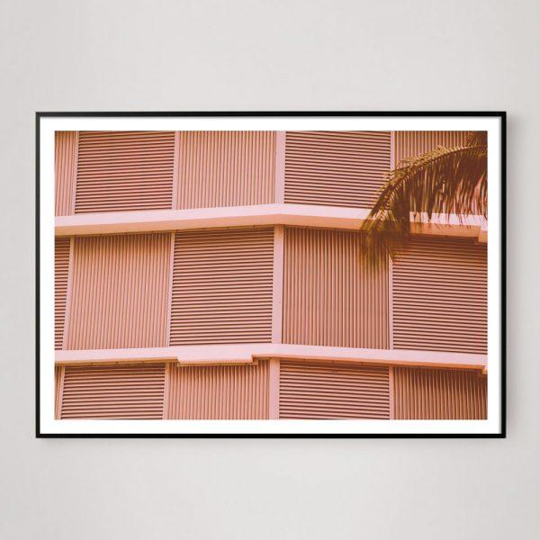 pink geometric architecture