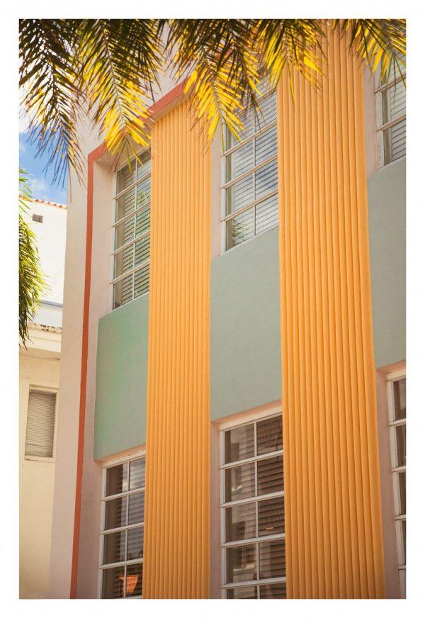miami beach pastel building photograph