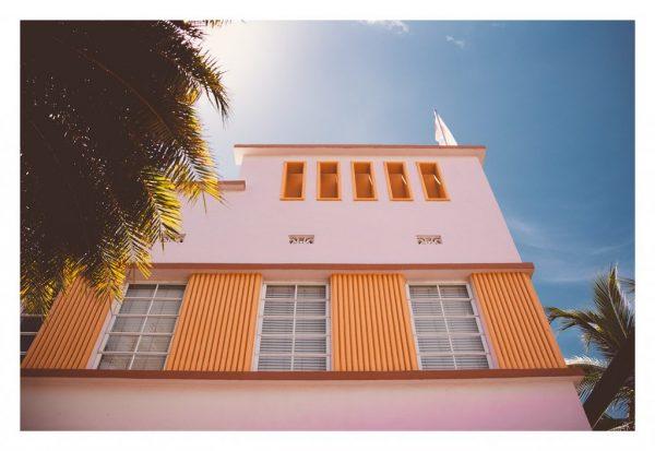 pastel art deco architecture in miami beach photograph