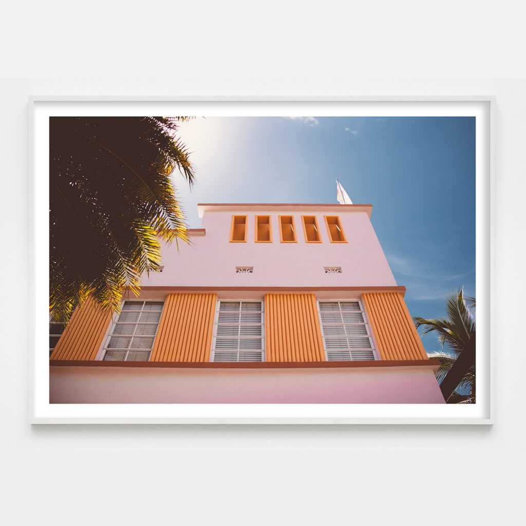 pastel art deco architecture in miami beach photograph
