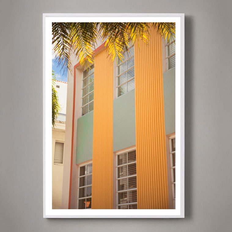 miami beach pastel building photograph