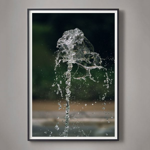 close up of fountain water splashing