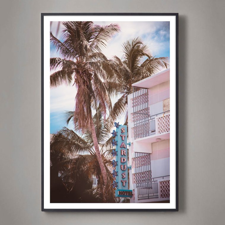 south beach miami vintage hotel photograph