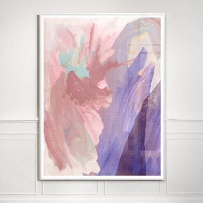 abstract pink and purple painting