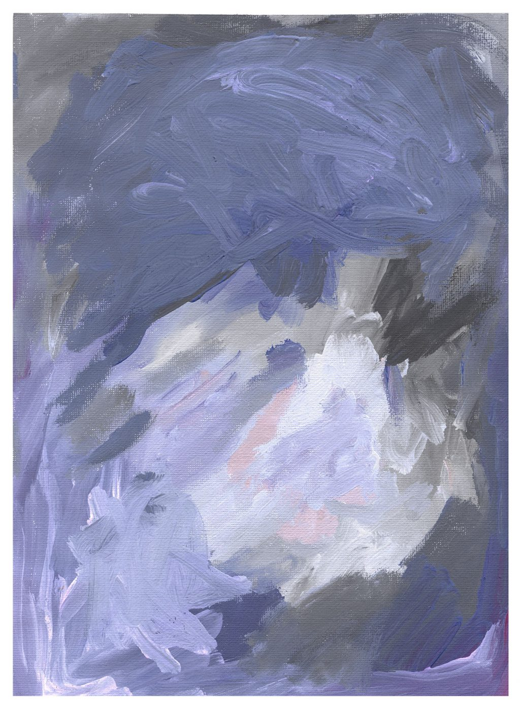 purple pastel painting