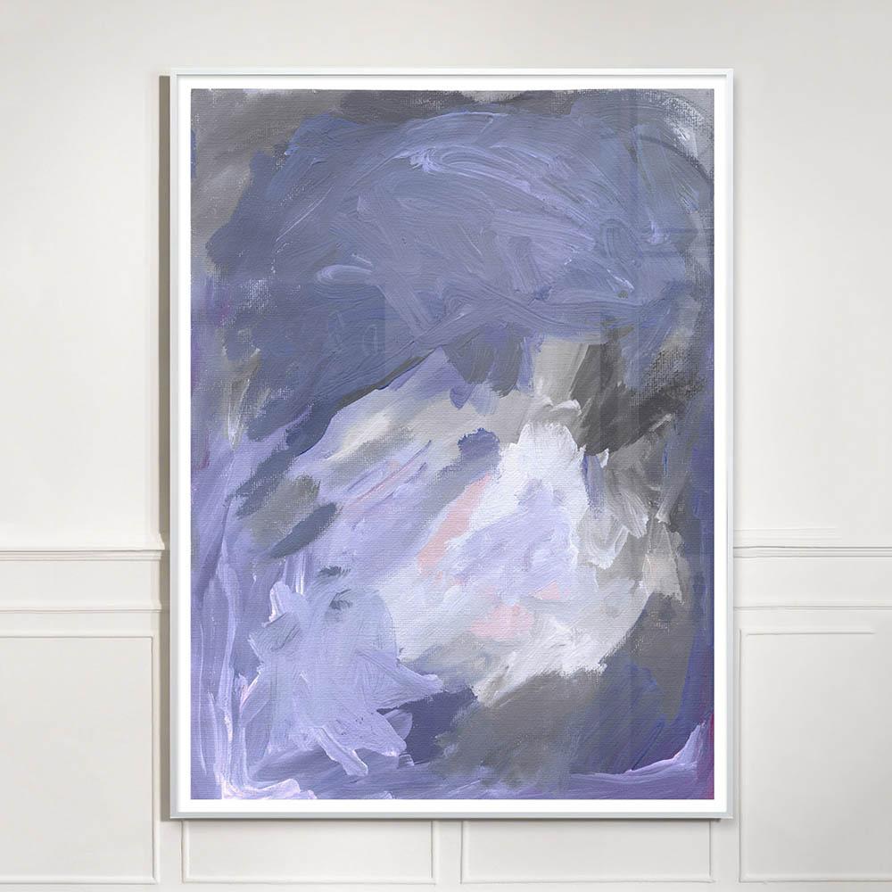 gestural purple painting