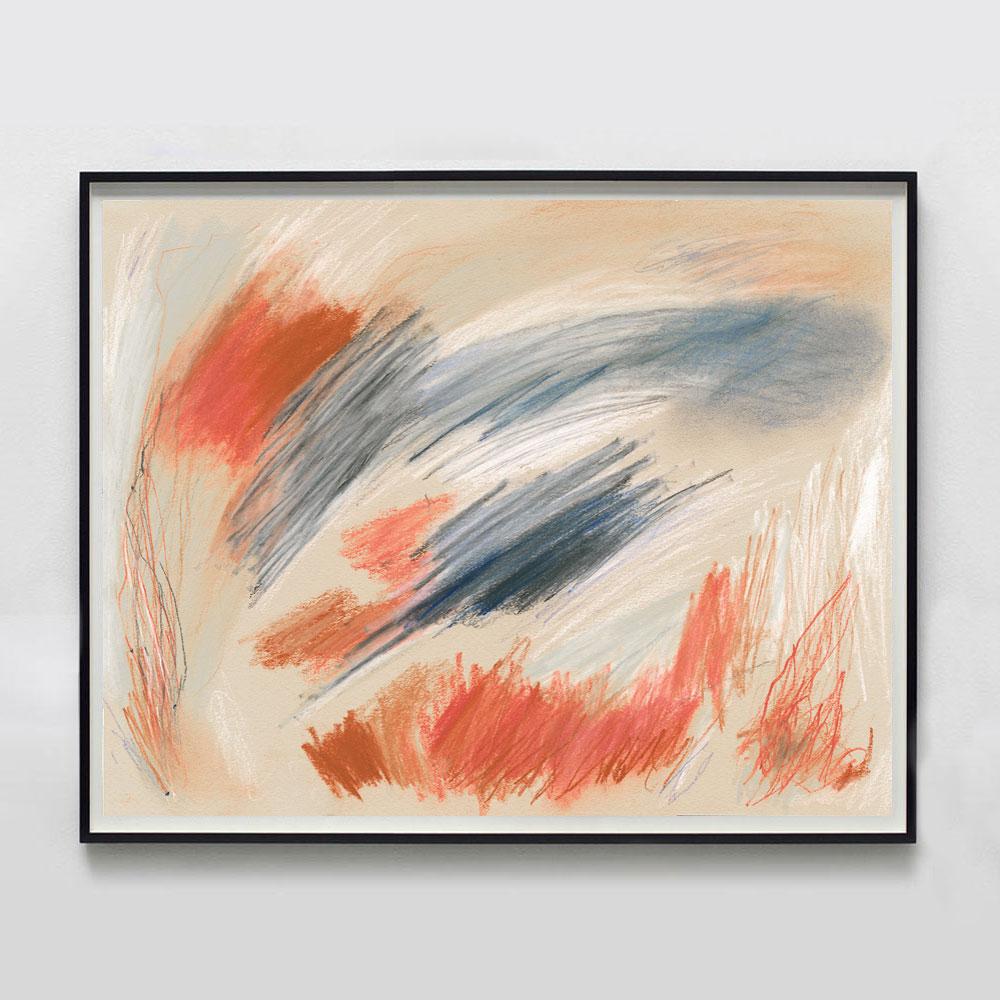 rusty orange terracotta art print