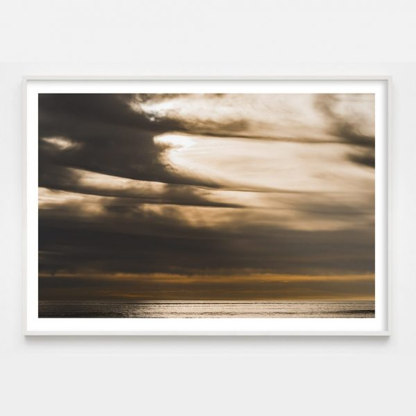 dramatic cloud over ocean photograph