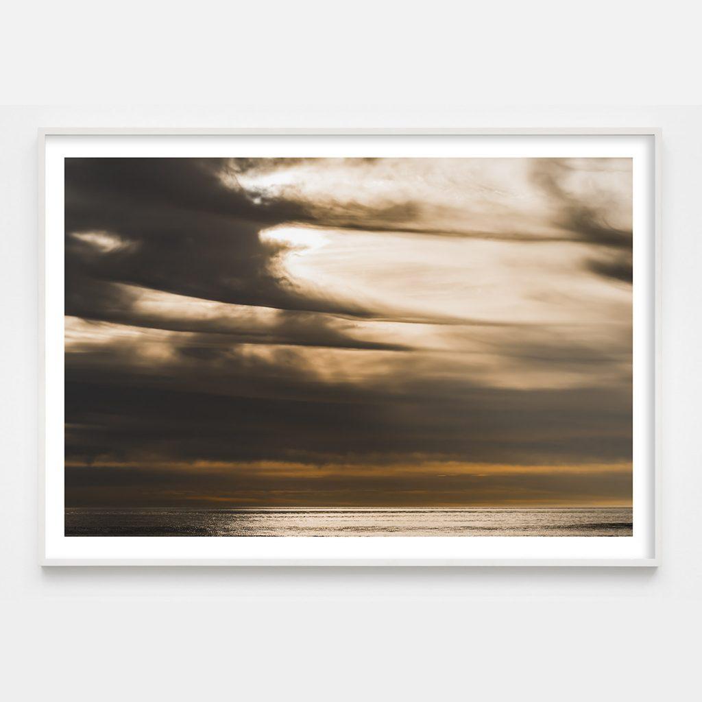 dramatic cloud over ocean photograph
