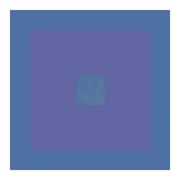 minimalist abstract geometric art print with cornflower blue and lavender