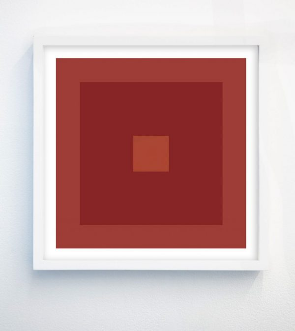 minimalist abstract geometric art print with terracotta and pink