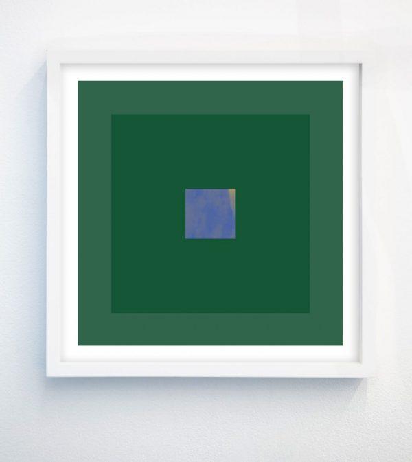 minimalist abstract geometric art print with green and purple