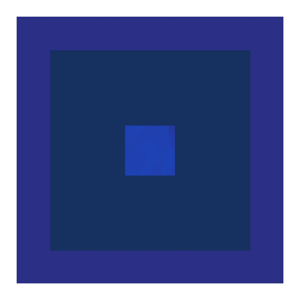 minimalist abstract geometric art print with indigo and purple