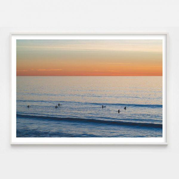 sunrise-surfers-white-frame