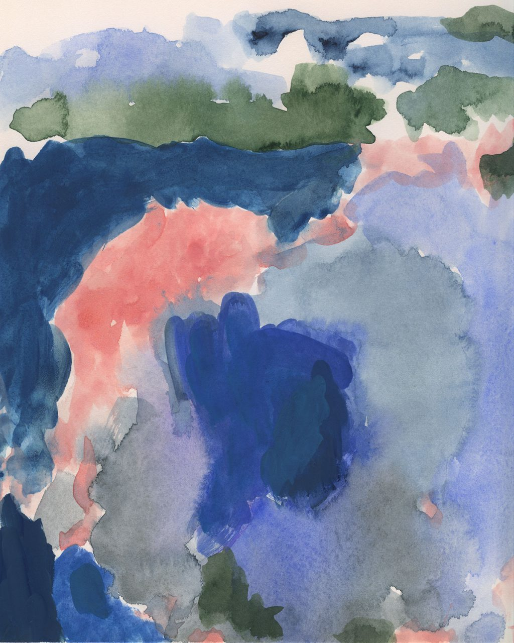 watercolor-blue-pink-green-unframed