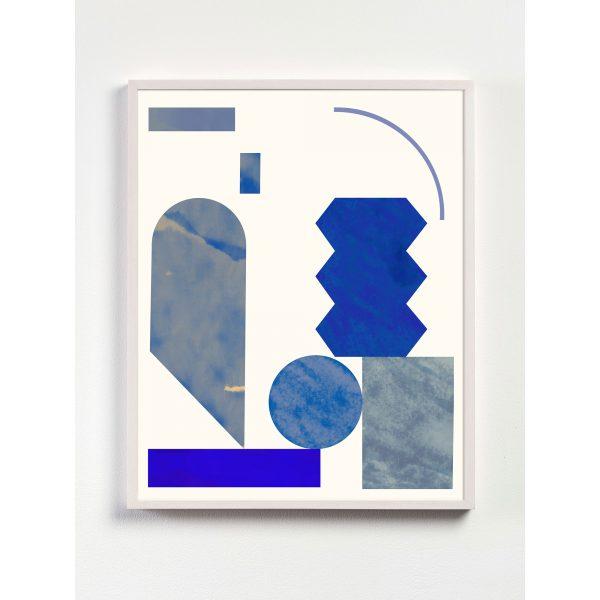 klein blue geometric art print