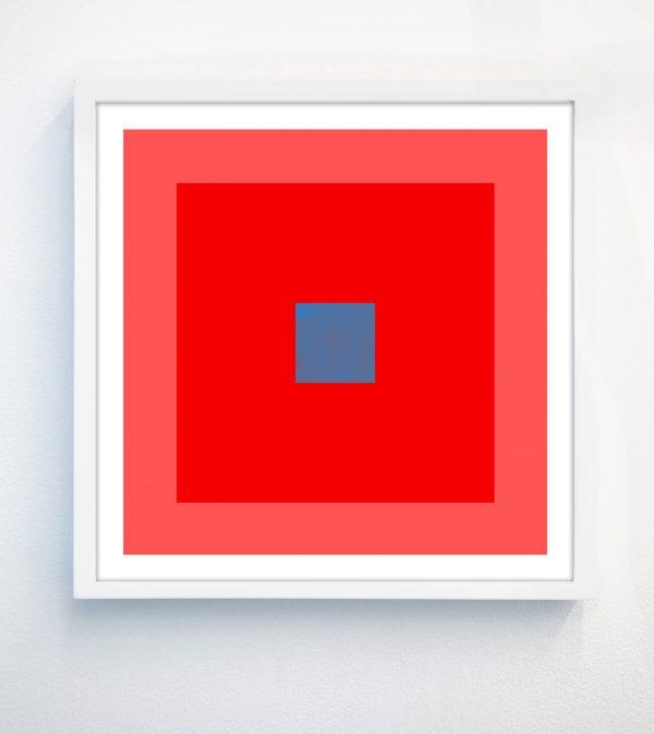 hot pink geometric print