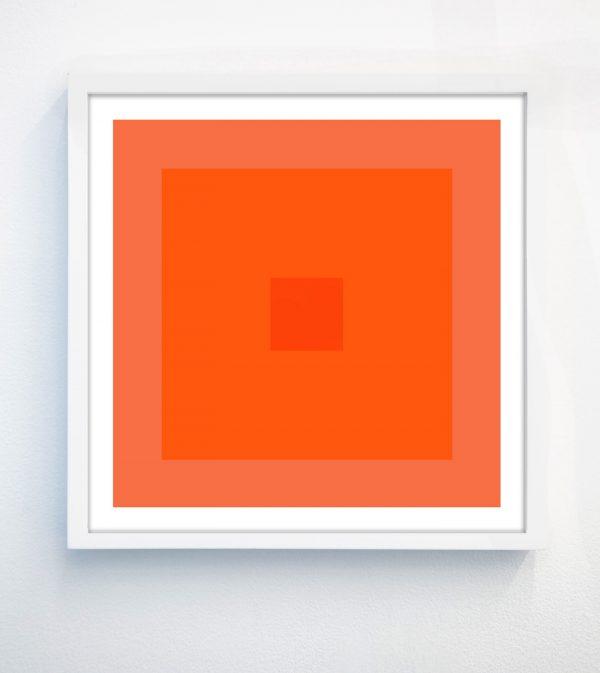 orange geometric print