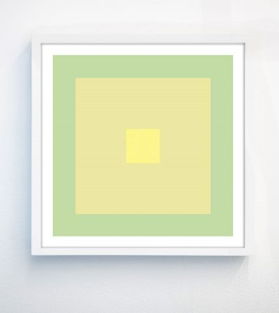 abstract lime green geometric print