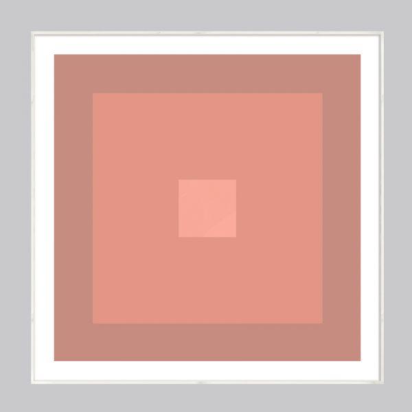 Nude color geometric art