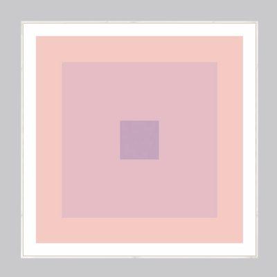 pink geometric art