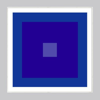 indigo blue abstract geometric art