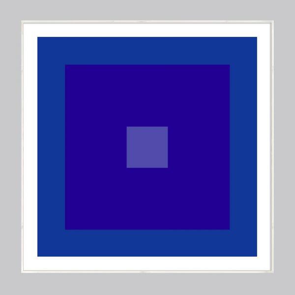 indigo blue abstract geometric art