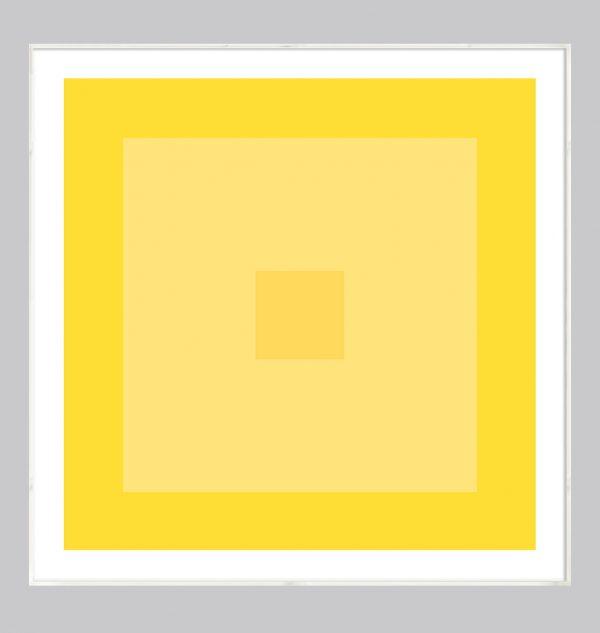 lemon yellow abstract art