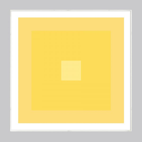 yellow abstract geometric art