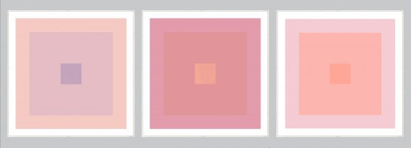 pink geometric art set