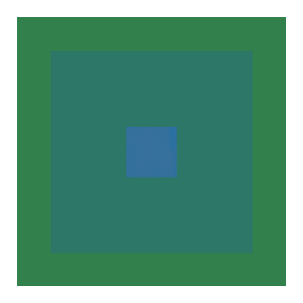 geometric abstract art in cool greens